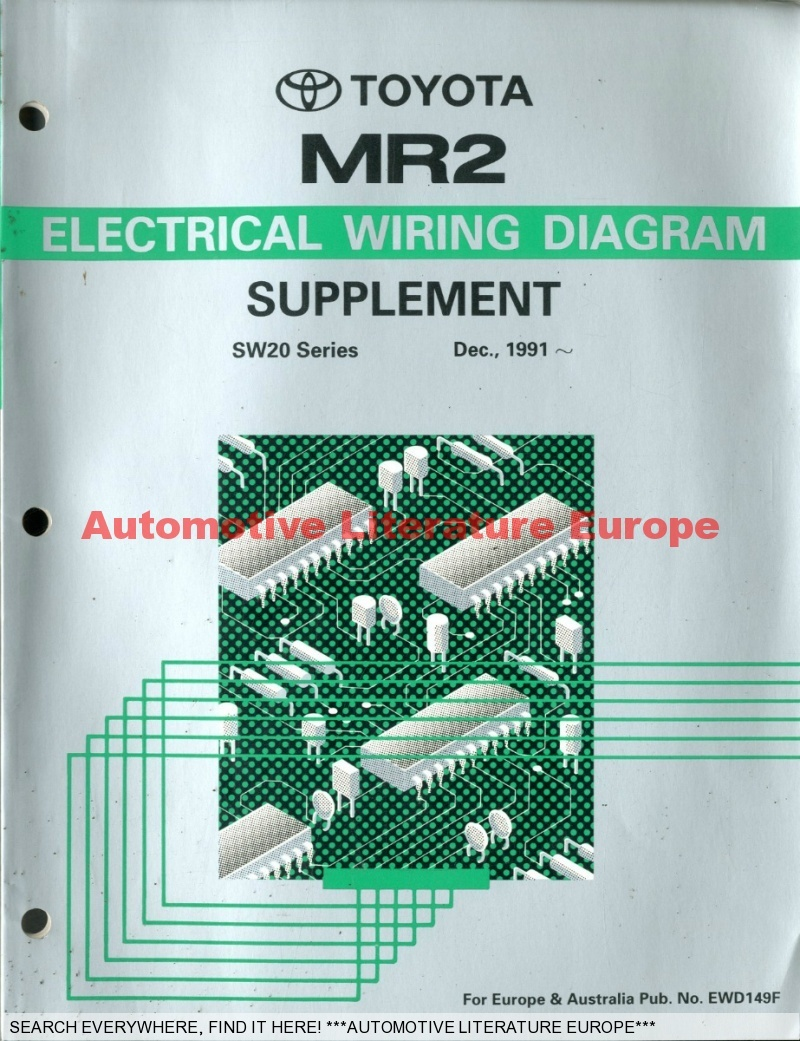 1991 TOYOTA MR2 SW20 SERIE ELECTRICAL WIRING DIAGRAM ... on